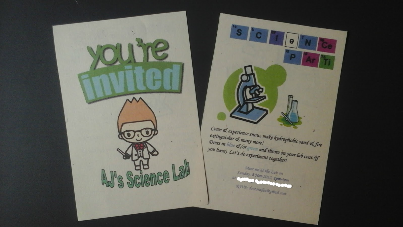 A Mad Science Birthday Party