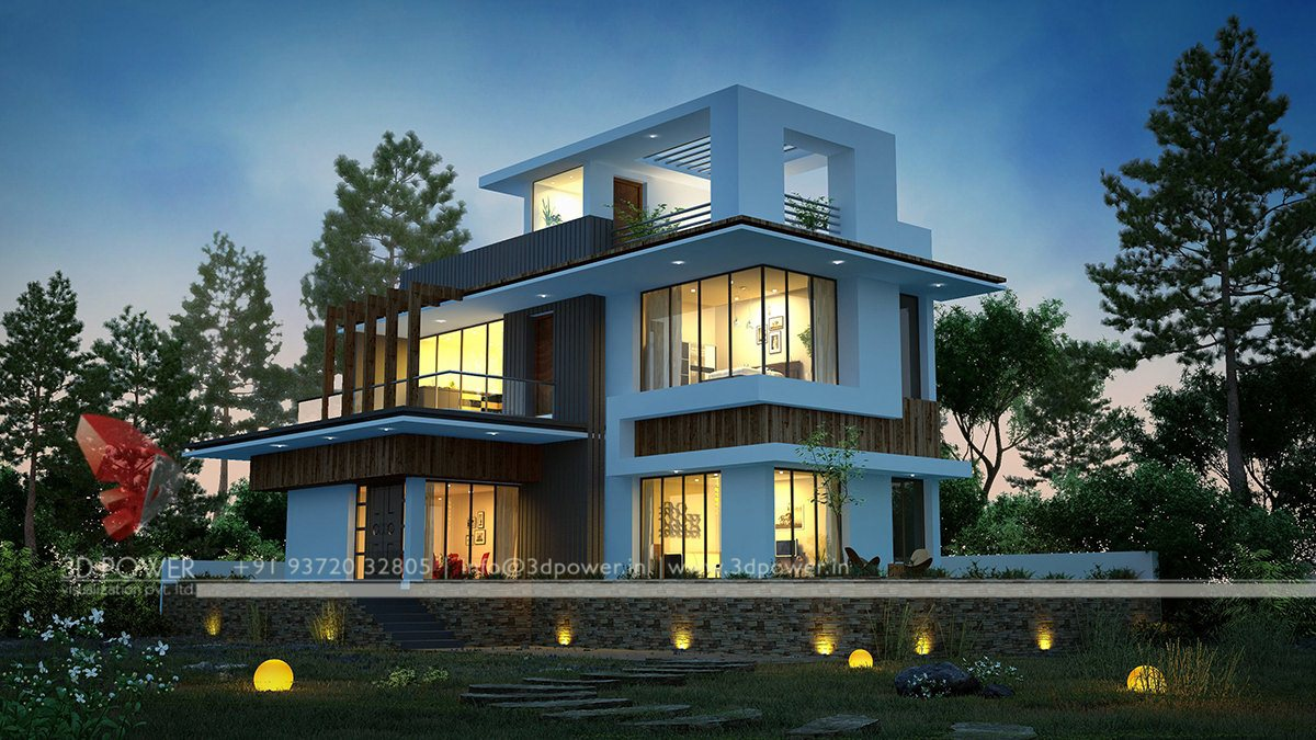 Ultra modern home designs home designs contemporary for Home design 3d view