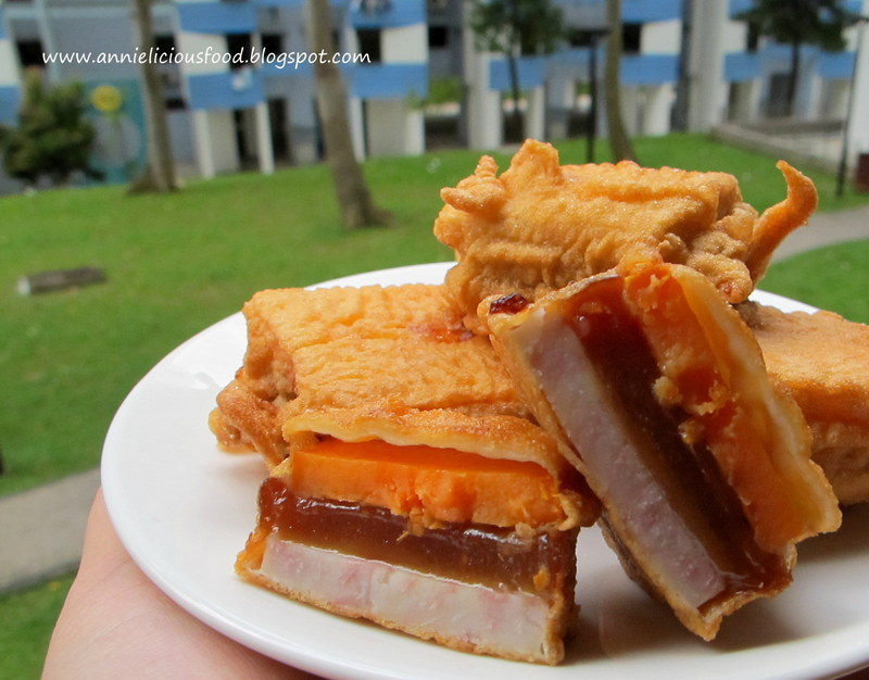 """Annielicious Food: Fried """"Nian Gao"""" / Sticky Rice Cake (炸年糕)"""