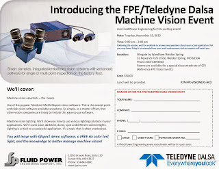 Fluid Power Engineering and Teledyne Dalsa Offer Machine Vision Seminar in the Saint Louis Area on Tuesday, November 19, 2013