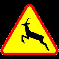 Znak ZWIERZĘTA DZIKIE