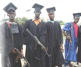 funny picture: africans passed university