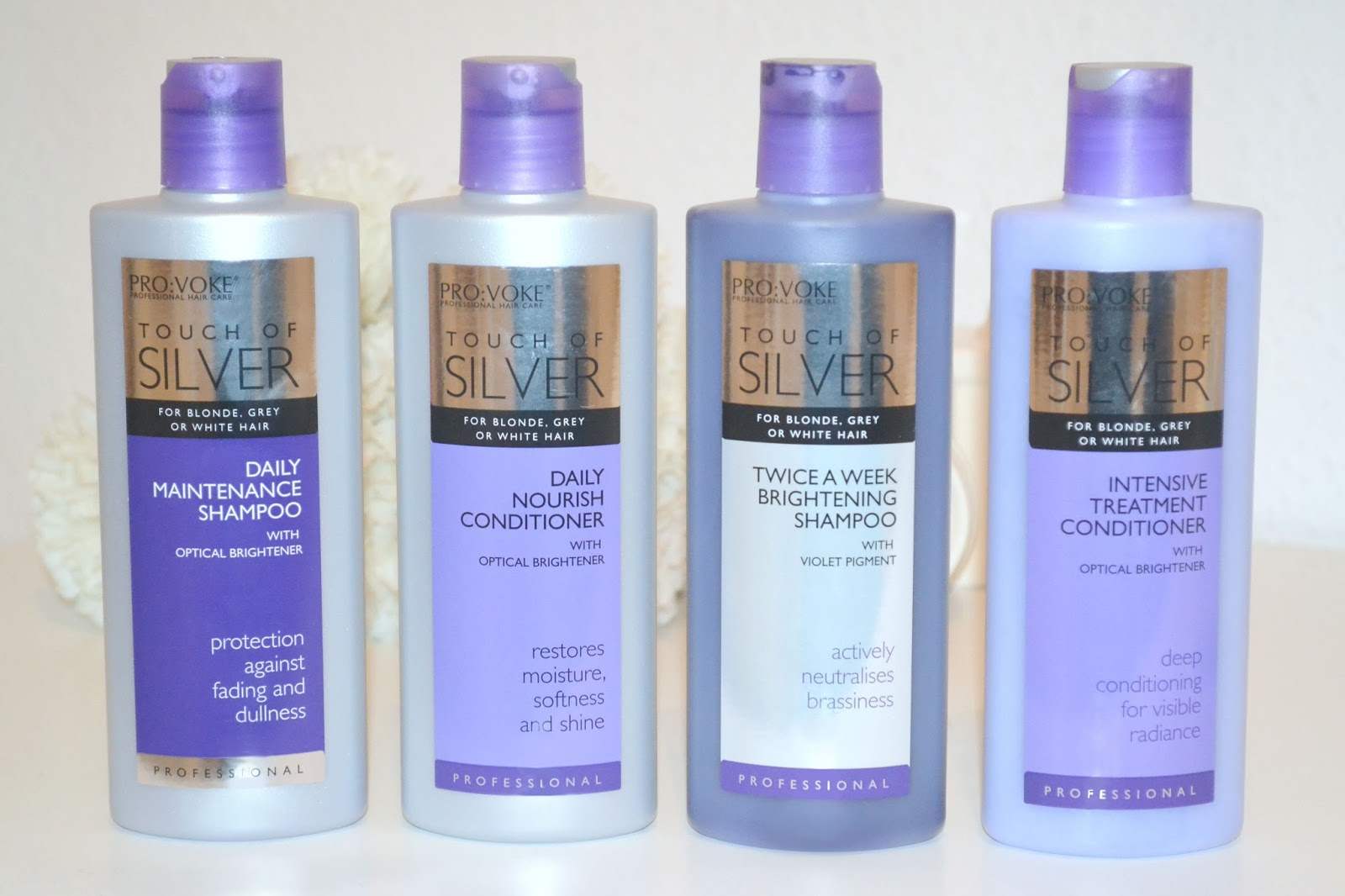 Maintaining Blonde Hair With Touch Of Silver Shampoo And