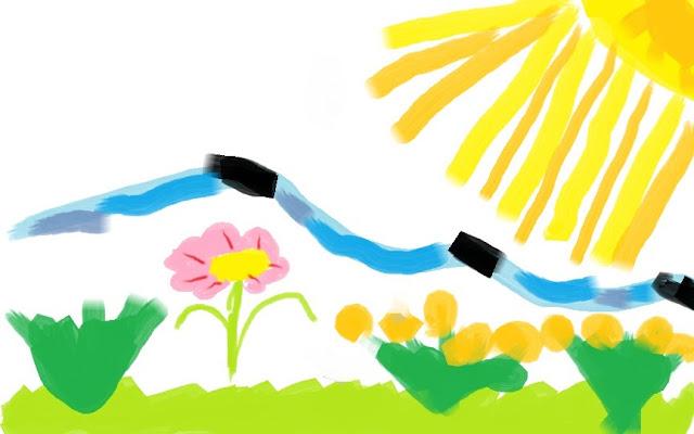 солнце и цветы - это лето