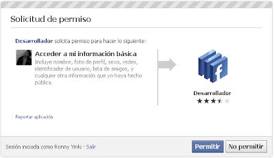 Paso uno - Autorizar Facebook Developer acceder a tu cuenta