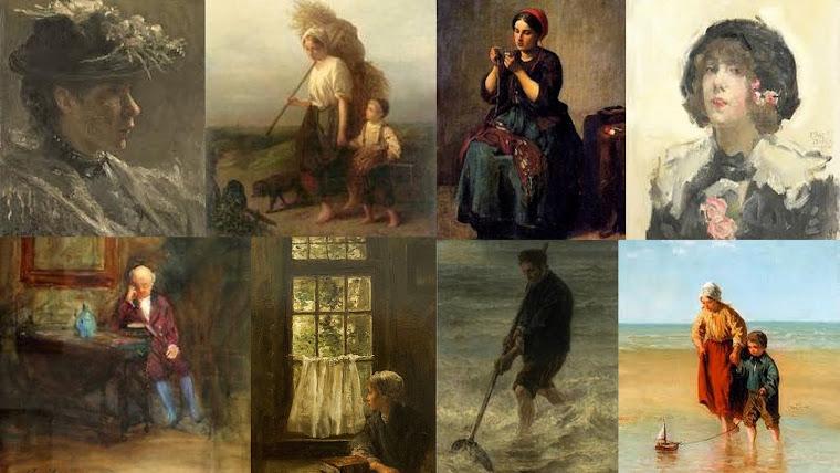 ISRAELS, Jozef. Colagem de pinturas.