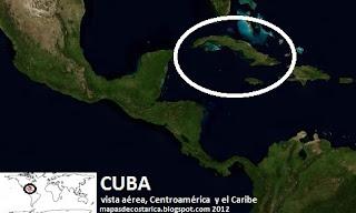 Cuba en centroamerica y el caribe, vista aéea (bing) 2012