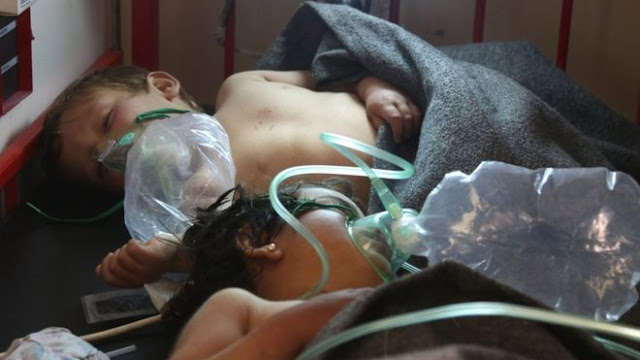 Child victims of Syria chemical attack.
