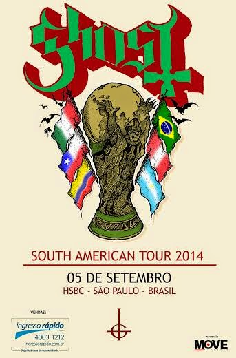 Ghost Brazil tour 2014