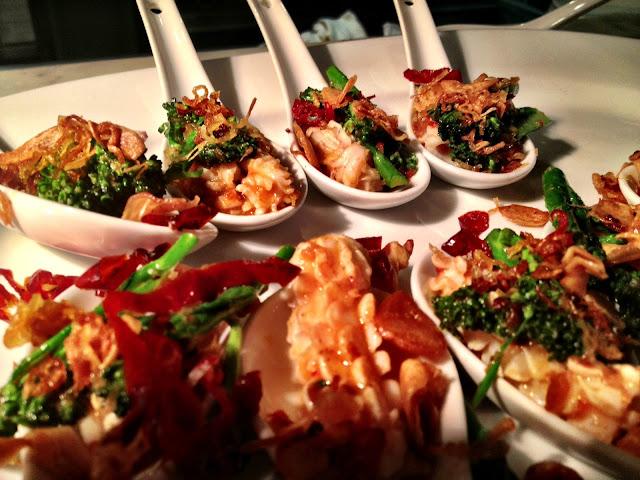 Spicy squid canapés - Smiths Spitalfields