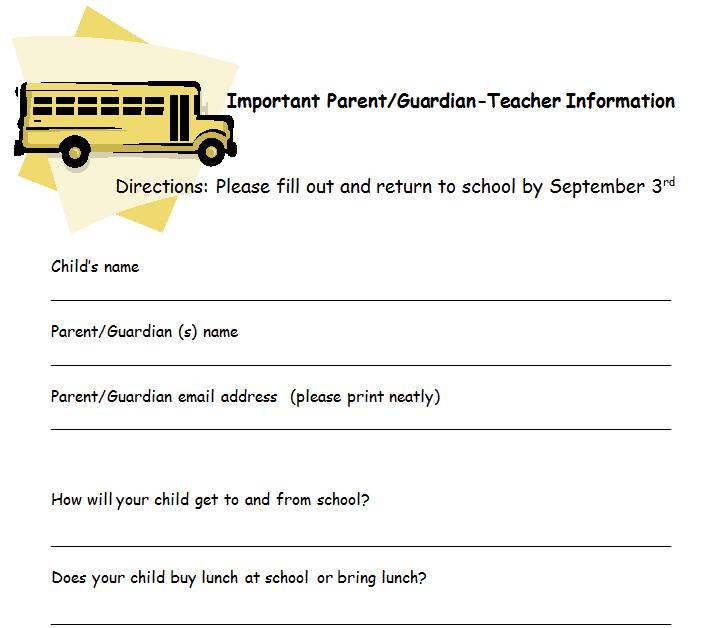 School Letter to Parents Parent/guardian Input Letter