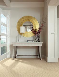 Beautiful carpet in natural tones and light