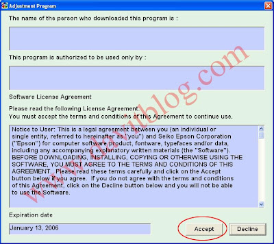 Extract Software Resetter yang telah di Download Open File APSPR220230 ...