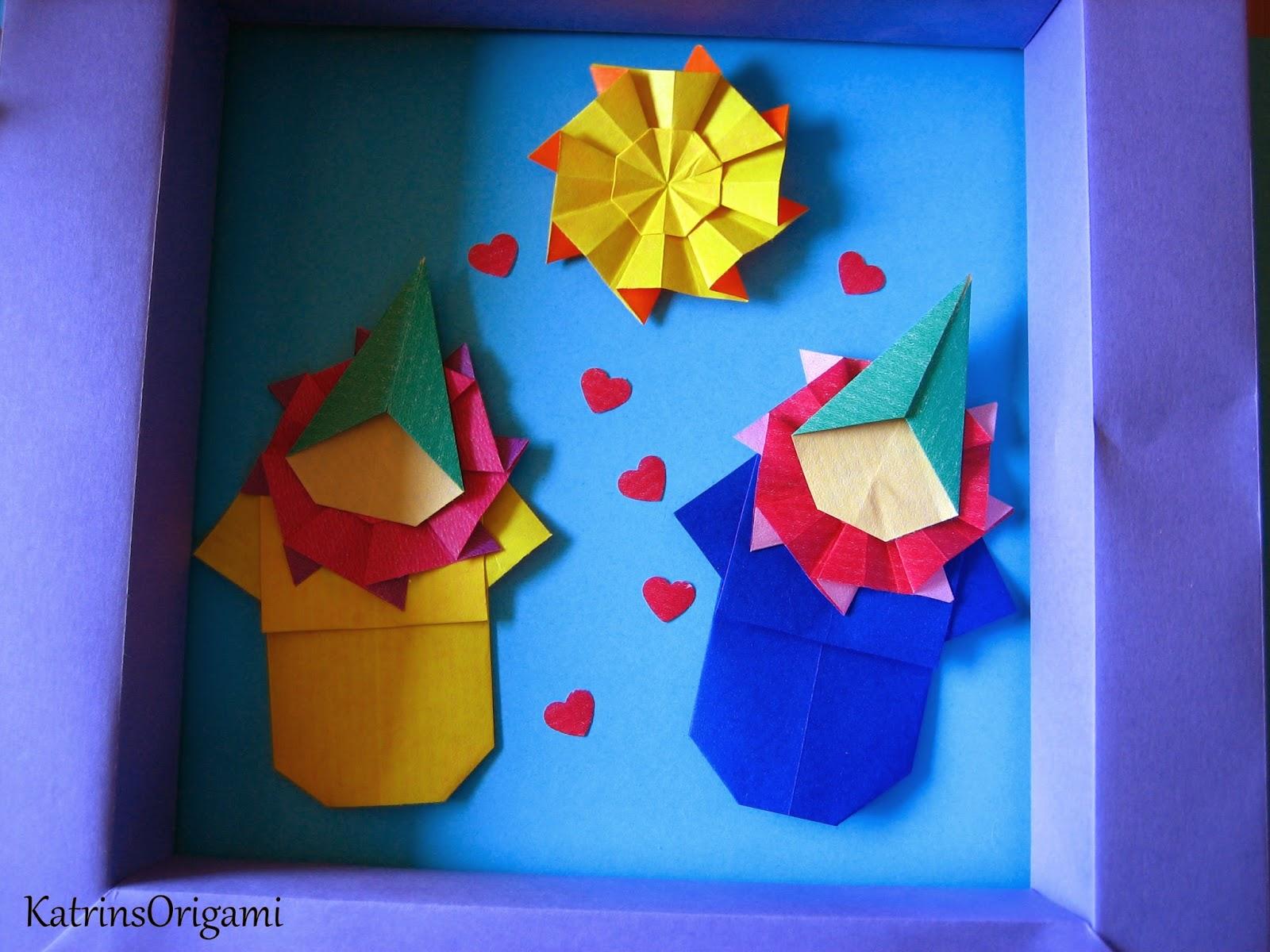 Origami die Kunst des Papierfaltens: Origami Palhaço ♥ Origami Clown ♥
