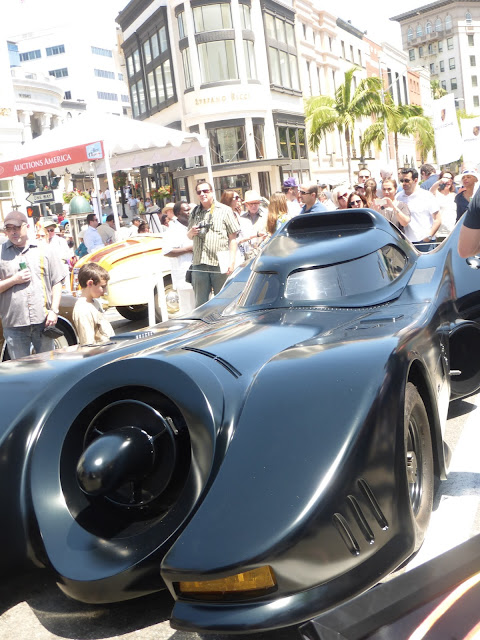 Classic Cars Batmobile on display Concours d'Elegance Fathers day Event in Beverly Hills