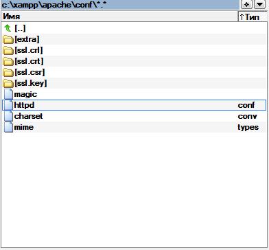 Где находится error.log