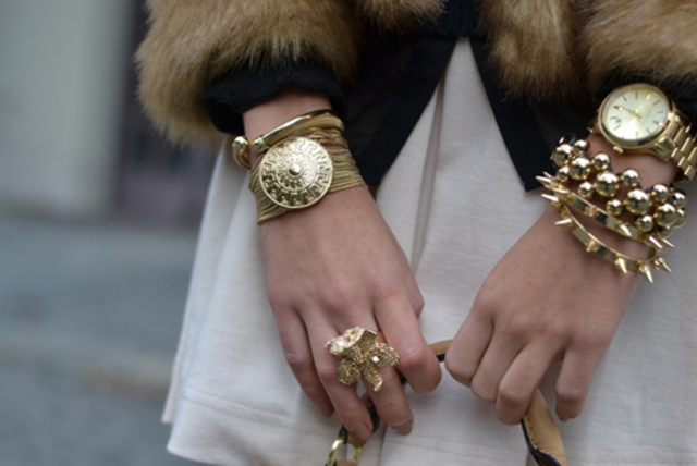 Gold Bracelet, gold ring, gold watch