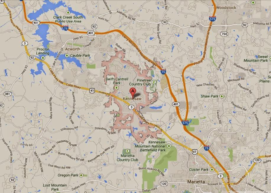 Kennesaw Georgia Map Location