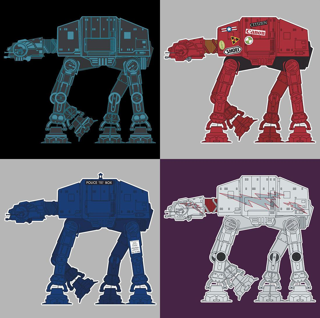 Star wars t shirts by sevenhundred tron akira doctor who grease