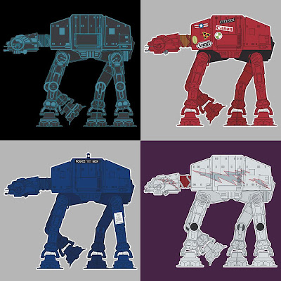 AT-AT Pop Culture Inspired Star Wars T-Shirts By SevenHundred - TRON, Akira, Doctor Who & Grease