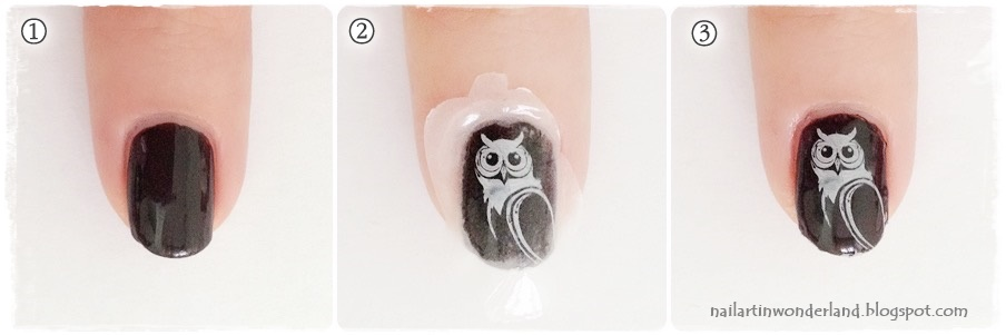Harry Potter Nail Art - Hedwig