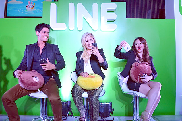 LINE Messaging, Line Philippines, Filipino Celebrity Endorsers