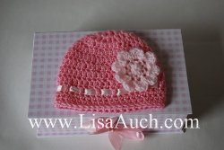 crochet flower-crochet baby hat-free crochet hat patterns-free crochet