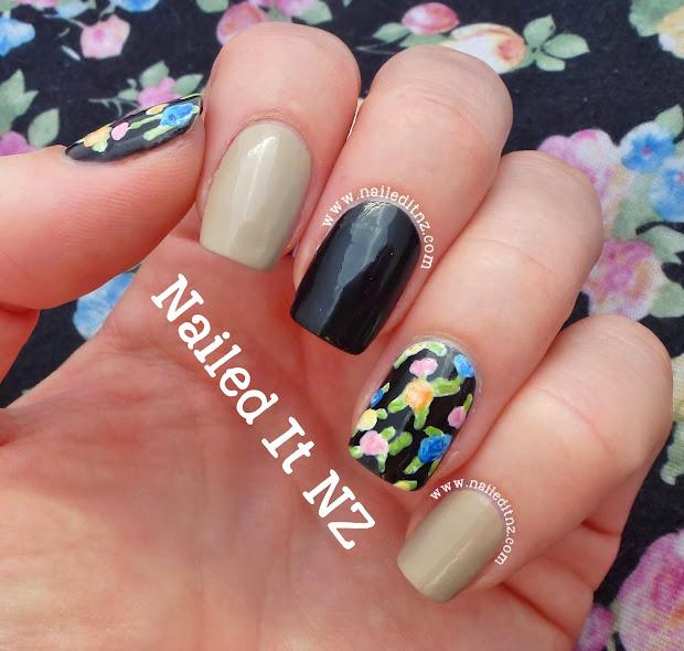 simple rose nail art & ootd