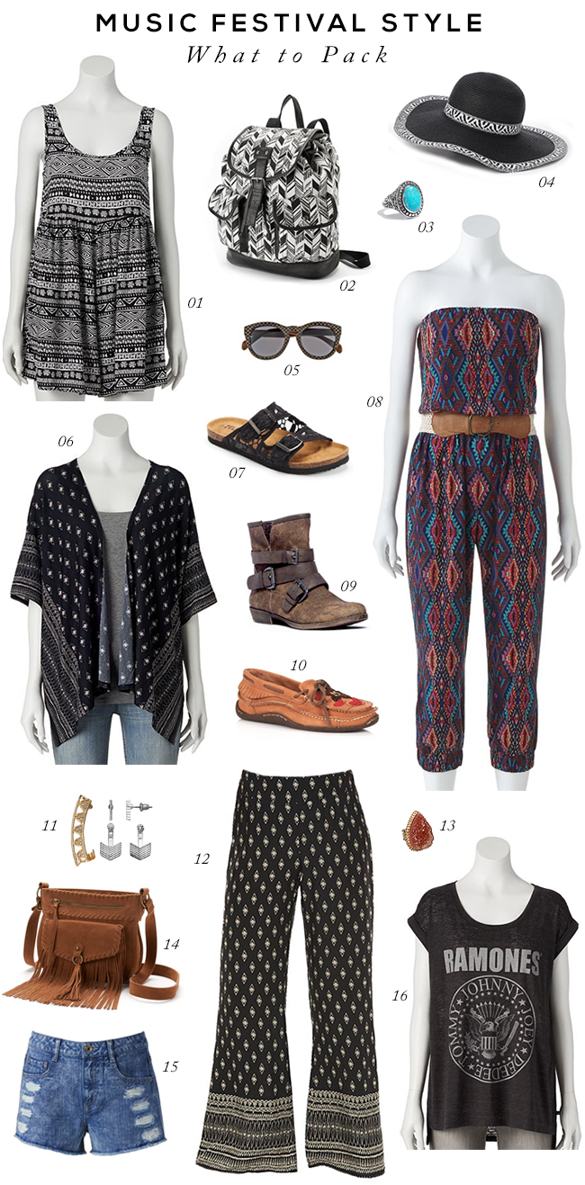 What to Pack for Music Festivals (via Bubby and Bean