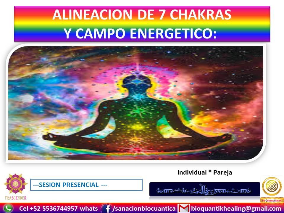 ALINEACION DE 7 CHAKRAS & CAMPO DE ENERGIA