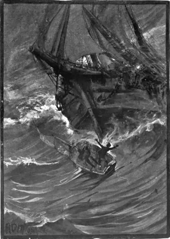 Illustration from The Narrative of Arthur Gordon Pym of Nantucket