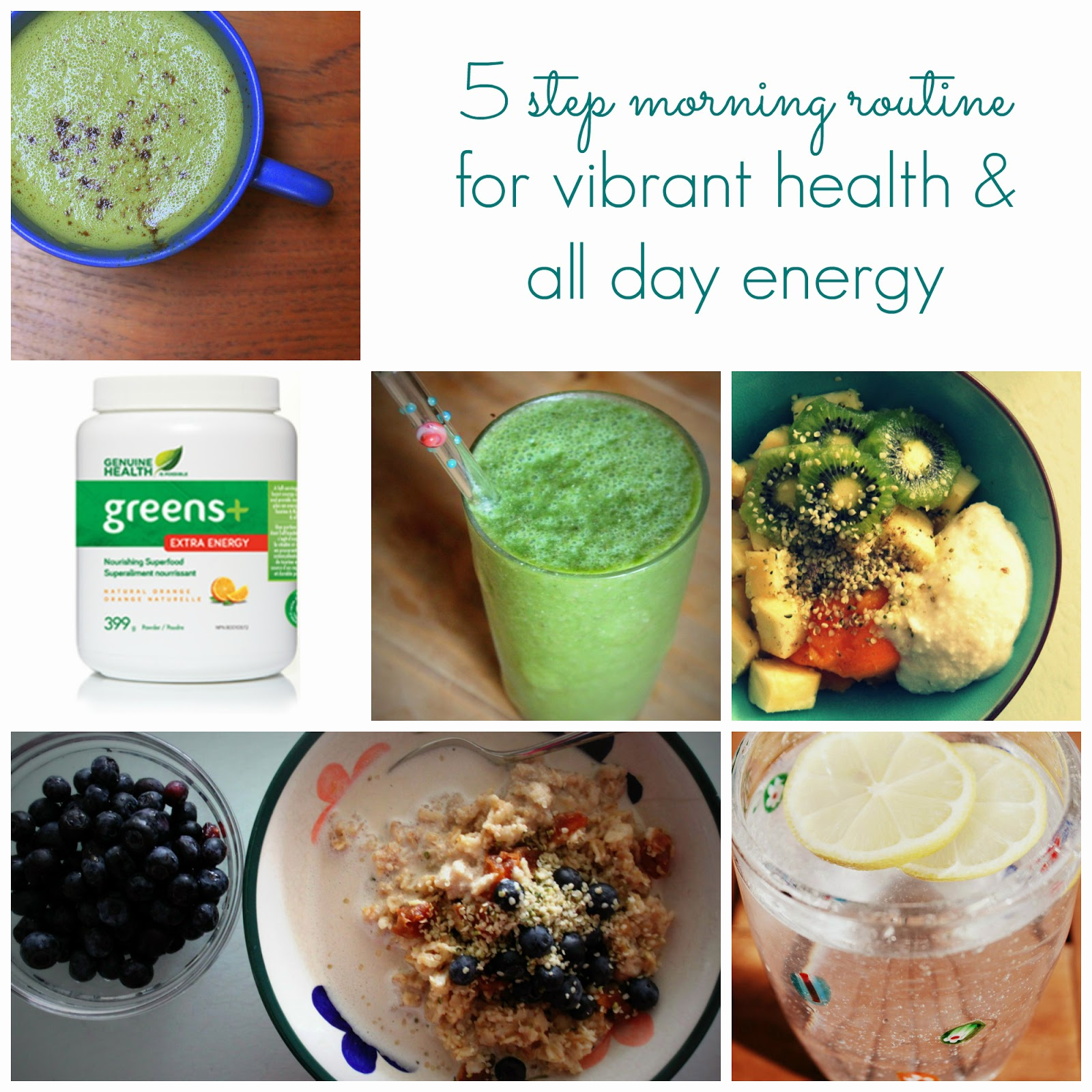 Healthy morning routine for energy with Greens+