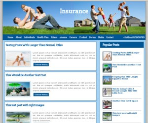 Insurance Co Blogger Template
