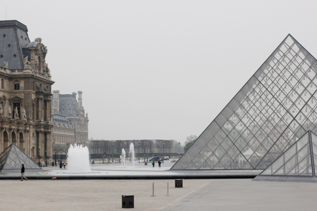 the louvre triangle