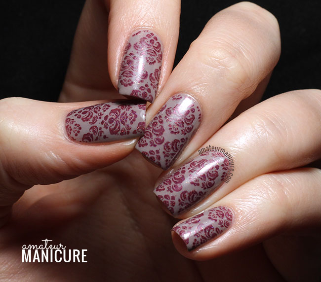 Amateur Manicure A Nail Art Blog Neutral Damask Print Nails