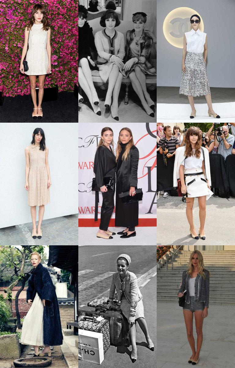 Chanel recupera los zapatos bicolor de coco en su ltimo desfile fw 2015 16 con algo de estilo - Zapatos collage ...