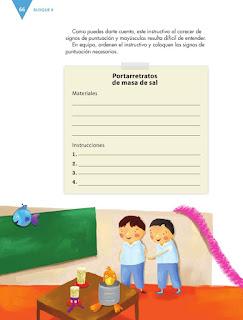 Apoyo Primaria Español 4to Bloque II lección 6 Escribir un instructivo para elaborar manualidades