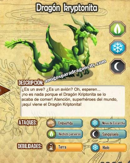 imagen de las caracteristicas del dragon kryptonita