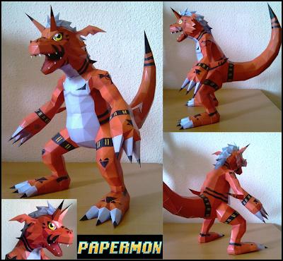 Digimon - Growlmon Papercraft