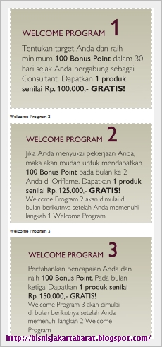 Promo Belanja Oriflame Febuari 2013 - Welcome Program
