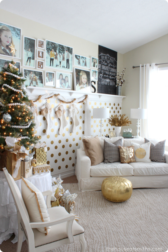 Modern, Whimsical, Gold Christmas Decor - Our Holiday Home Tour