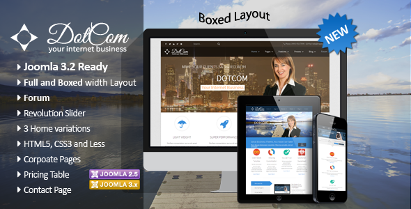 DotCom – Responsive Joomla Corporate Template