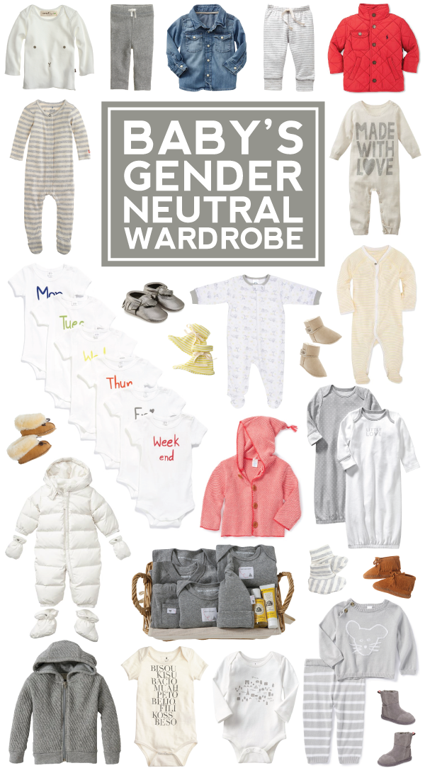 25+ pieces for baby's gender neutral wardrobe!