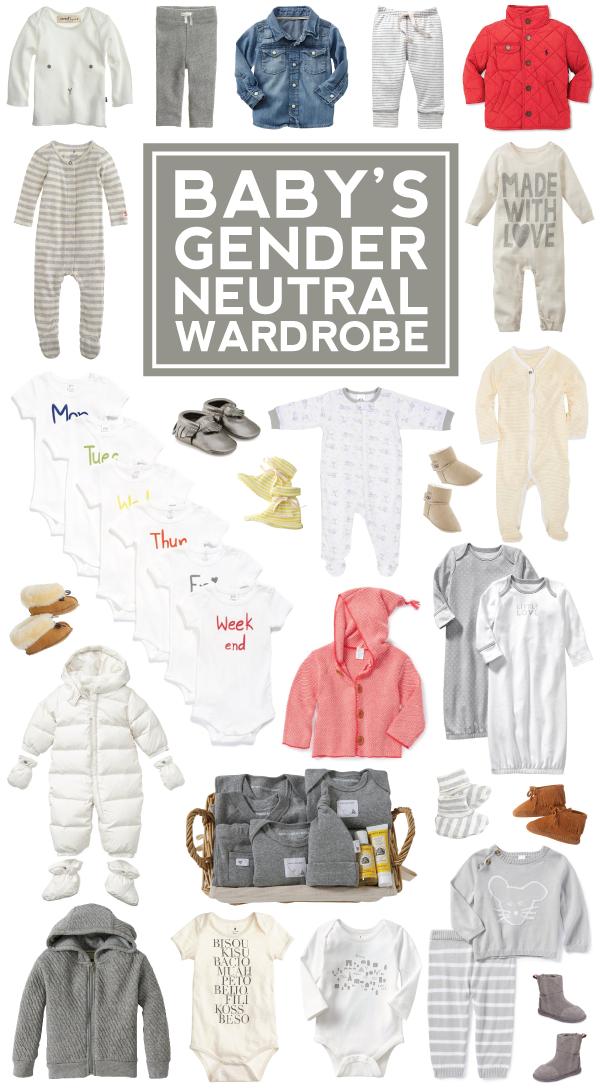 25+ pieces for baby's gender neutral wardrobe!