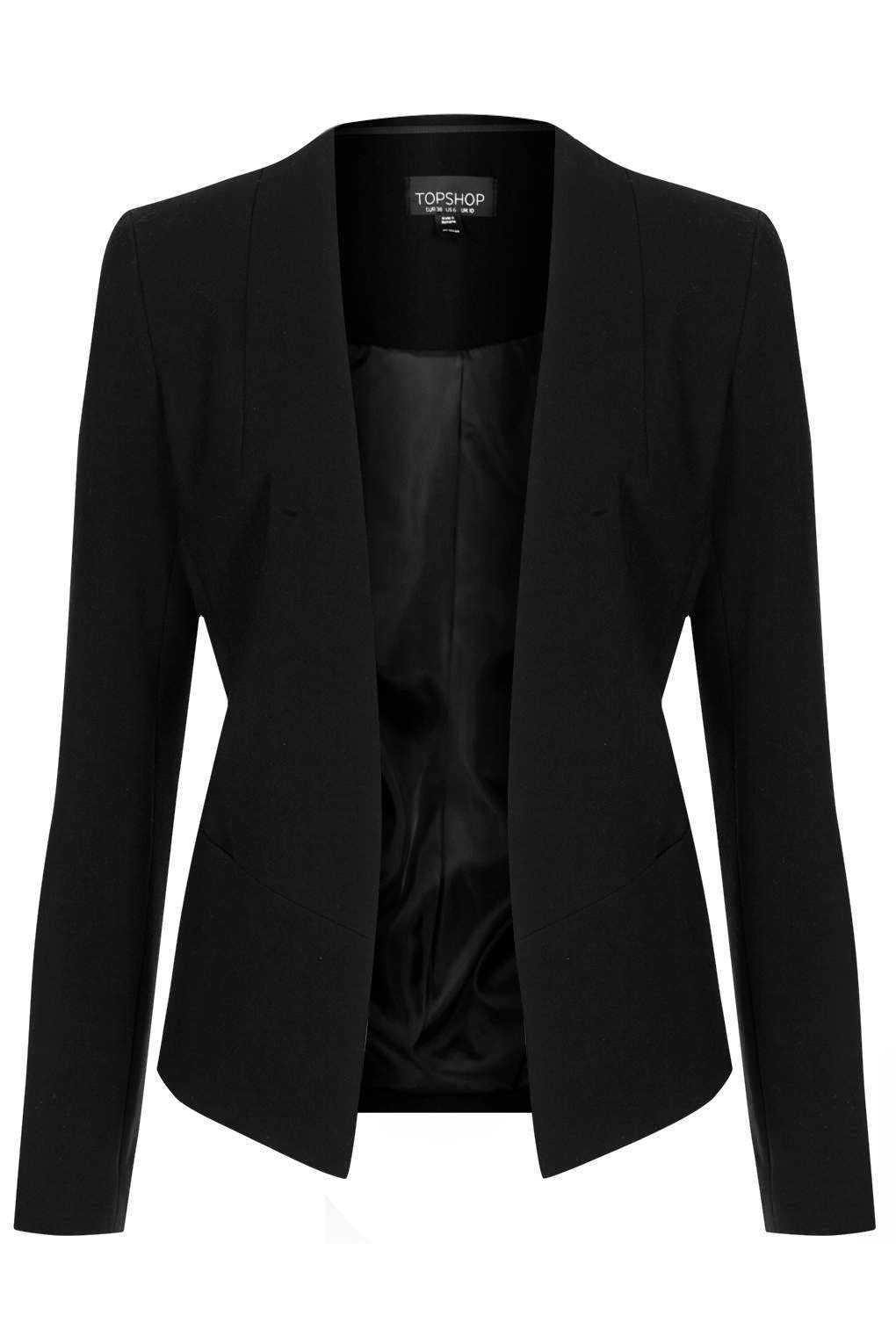 fitted black blazer
