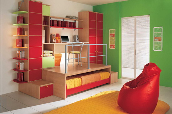 Kids Study Room Design By Arredissima Home Interior