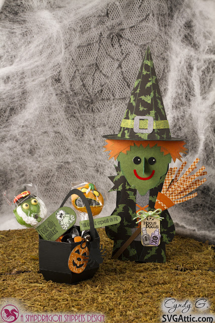 3d witch and cauldron