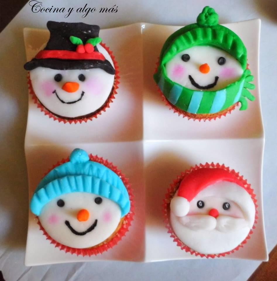 Lindos Cupcakes Navidenos Cocina Y Algo Mas