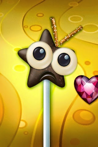 Drawing of star-shaped chocolate on a stick