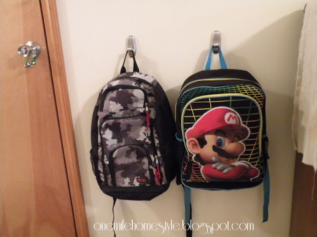 Backpack organization using command hooks